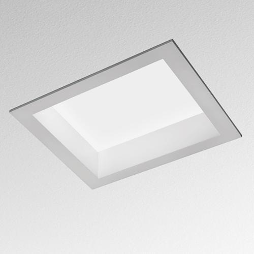 Artemide Architectural Luceri kadro Deckeneinbauleuchte prismoptic Gr14q-1 2x17W  AR M025620 Weiß