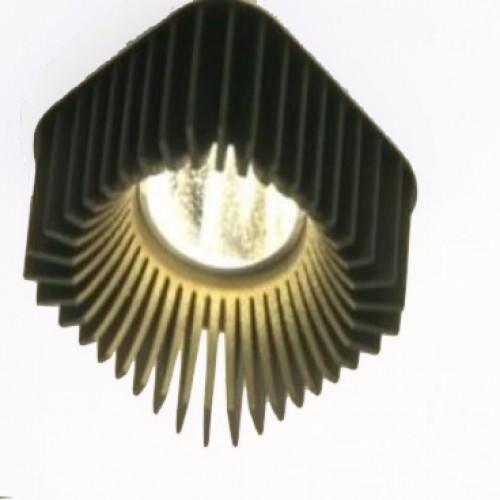 Dark Coolfin crown SQ einbau LED 14,5W 40° 4000K 700mA  DA 83602145404001 Schwarz / Schwarz