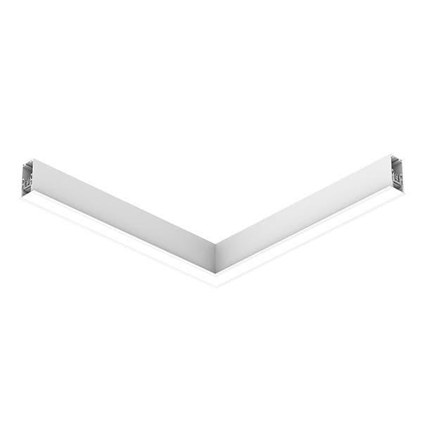 Flos Architectural In-Finity 35 Recessed Trim General Lighting Flat Corner Dali AN N35TFC3G30BDA Weiß