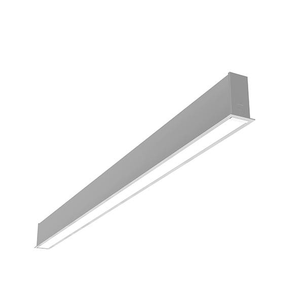 Flos Architectural In-Finity 35 Recessed Trim Micro-Prismatic Diffuser AN N35T254U02B Silber