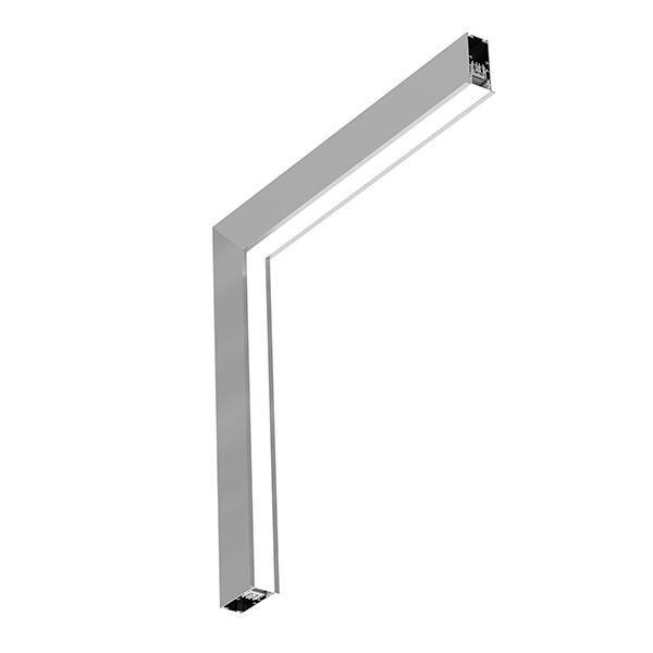 Flos Architectural In-Finity 35 Recessed Trim Micro-Prismatic Diffuser Dihedral Corner Dali AN N35TDC3U02BDA Silber