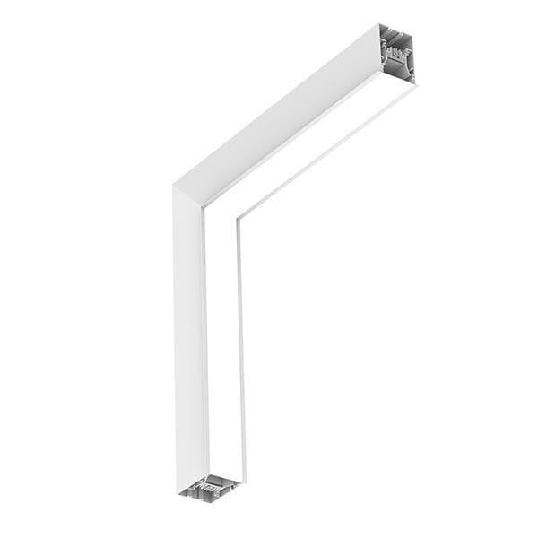 Flos Architectural In-Finity 70 Recessed Trim General Lighting Dihedral Corner Dali AN N70TDC3G30BDA Weiß