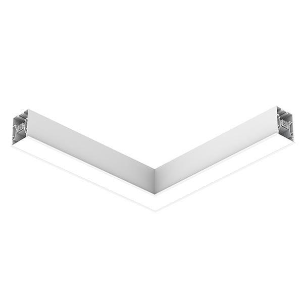Flos Architectural In-Finity 70 Recessed Trim General Lighting Flat Corner Dali AN N70TFC3G30BDA Weiß