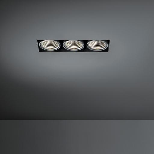 Modular Lighting Mini Multiple Trimless MO 12532129 Weiße Struktur / Schwarz