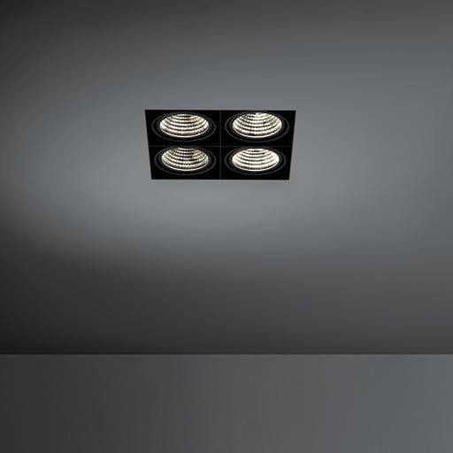 Modular Lighting Mini Multiple Trimless MO 12533029 Weiße Struktur / Schwarz